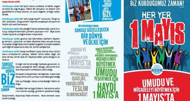 DİSK, KESK, TMMOB, TTB  1 MAYIS'I MUĞLA'DA KUTLUYOR!..