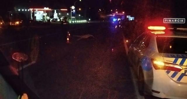 Otobüsün çarptığı motosiklet sürücüsü yaşamını yitirdi