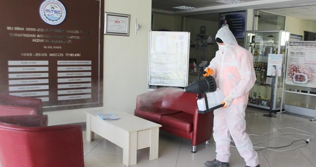 MİTSO'da salgına karşı önlemler arttırıldı,  çalışma saatleri değiştirildi