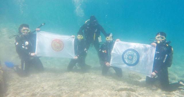 İtfaiye su altı arama kurtarma ekibi eğitimlerini tamamladı