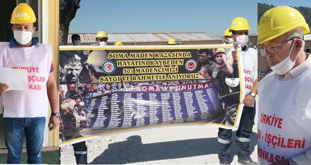 Soma'da maden ocağında ölen 301 maden işçisi unutulmadı!.