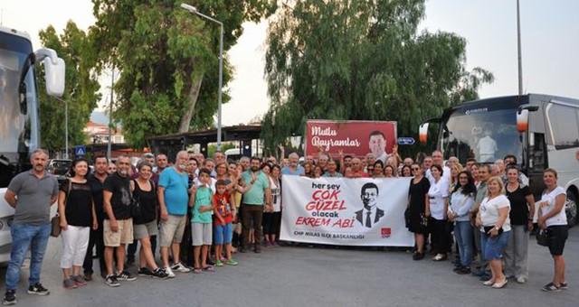 Gönüllüler, seçim öncesi İstanbul'a gitti…