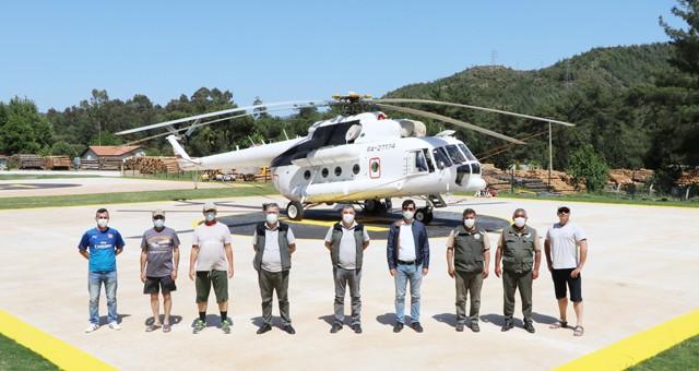 Milas Yangın Helikopteri Göreve Başladı