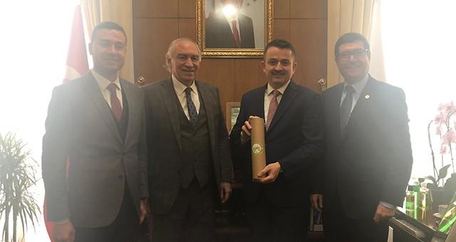 Ankara'daki AKP Heyeti'nden; Milas'a yeni fuar alanı isteği.