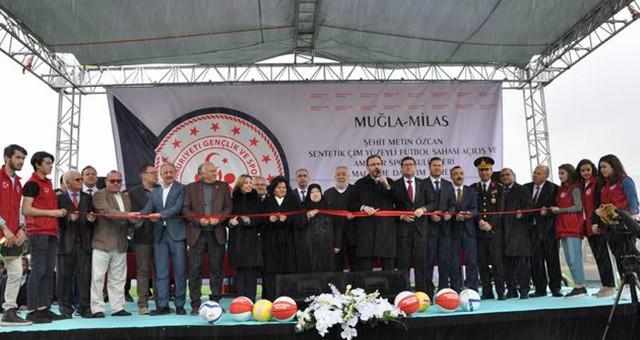 Şehit Metin Özcan Stadı, yeniden hizmete girdi…