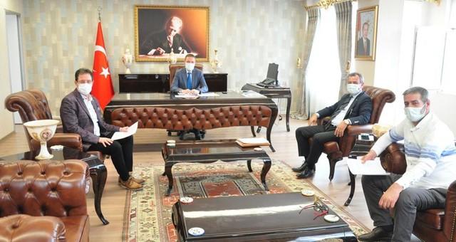 Kaymakam Böke, oda başkanları ile toplantı düzenledi