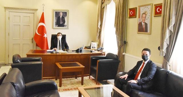 Yeni Muğla İl Milli Eğitim Müdürü Emre Çay'dan Vali Orhan Tavlı'ya ziyaret