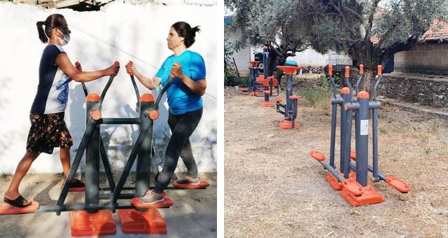 İki mahalleye daha spor aletleri kuruldu