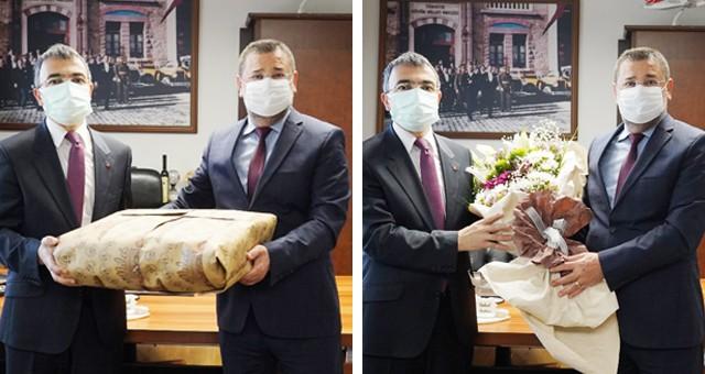 Kaymakam Arslan'dan Başkan Tokat'a veda ziyareti