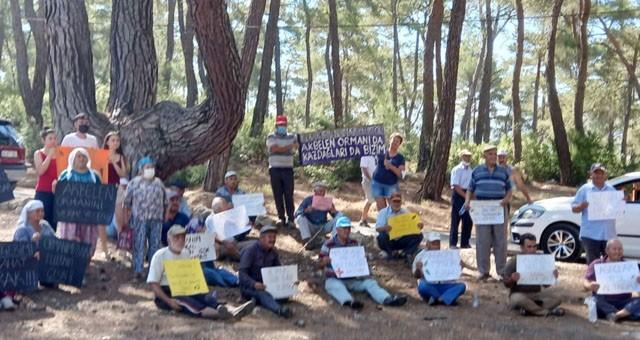 Akbelen ormanları için nöbet tutuyorlar