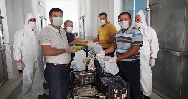 İhtiyaç sahiplerine ulaştırılacak olan ürünler teslim alınmaya başlandı