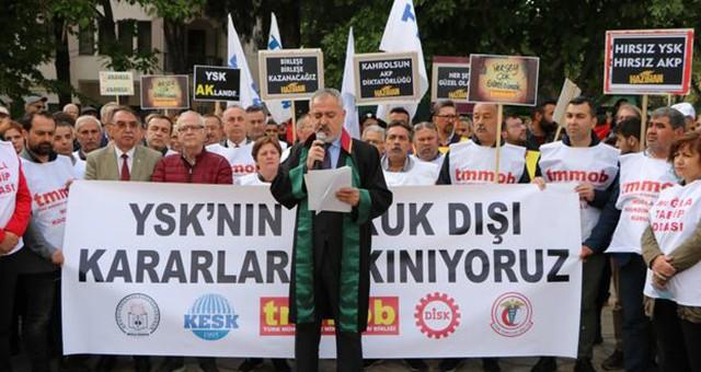 Muğla Barosu ve STK'lar'dan YSK'nın İstanbul kararına tepki