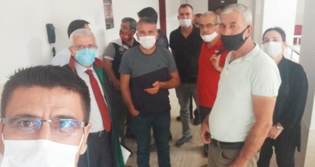 Tüm Emekli Sen'denÇınartaş İşçilerine Adliye'de destek..