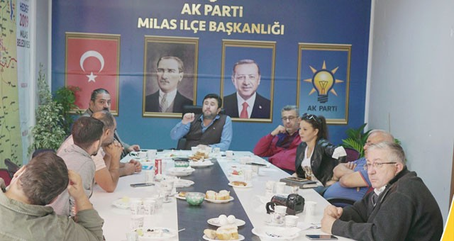 Yeni AKP İlçe Başkanı, Milas Basınıyla Buluştu..