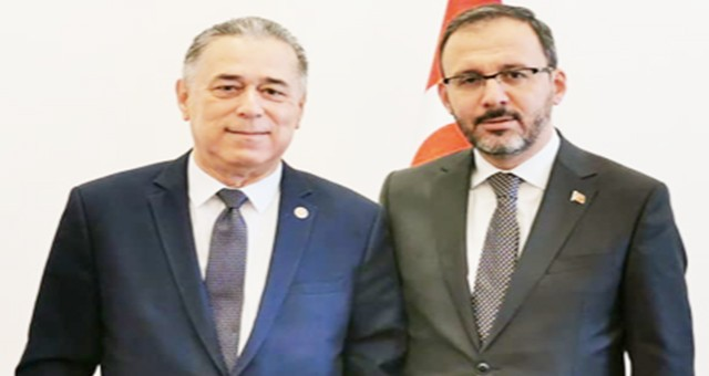 Milletvekili Özcan, Milas Kapalı Spor Salonu için Bakan ile görüştü