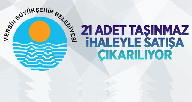 Mersin Büyükşehir Belediyesi'ne ait 20 adet arsa ve tarla ile 1 adet dükkan ihale ile satılacaktır