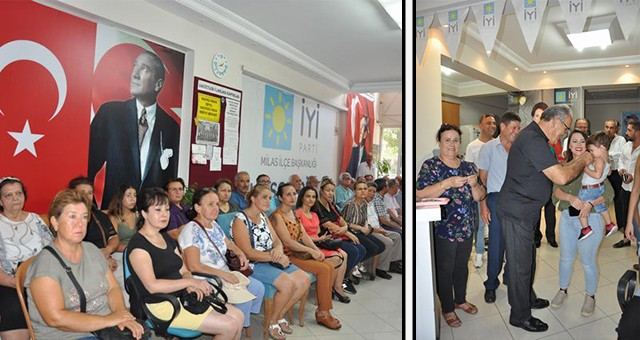 """Milas'ta İYİ Parti'nin 39 yeni üyesine törenle rozetleri takıldı -  """"Hiçbir partinin devamı değiliz… İktidara koşan partiyiz"""""""