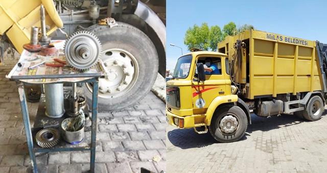 Milas Belediyesi araçlarını kendi tamir ediyor