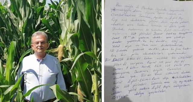 Girgin, Bakan'a Muğlalı çiftçinin mektubunu okudu: