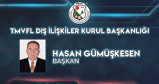 Hasan Gümüşkesen, TMVFF Dış İlişkiler Kurul Başkanlığı'na getirildi