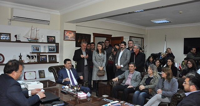 Başkandan Süt Birliği ve Muhtarlar Derneğine ziyaret…