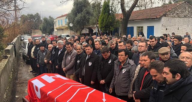CHP'Lİ PARTİ EMEKÇİSİNE SON YOLCULUĞUNDA VEFA