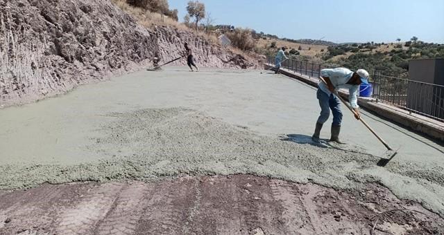 Dörttepe Mahallesi'nde beton yol kaplama tamamlandı