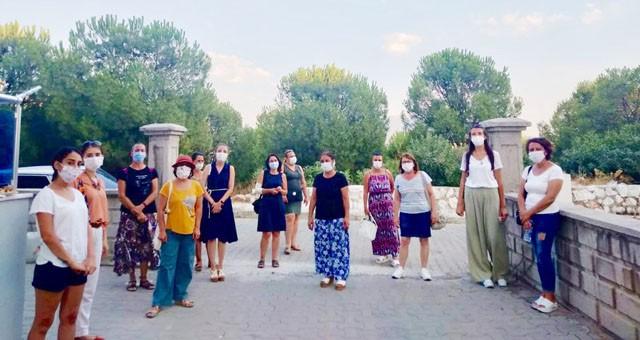 """""""Milas Kadın Dayanışması"""" darp edilen kadın esnafı ziyaret etti"""