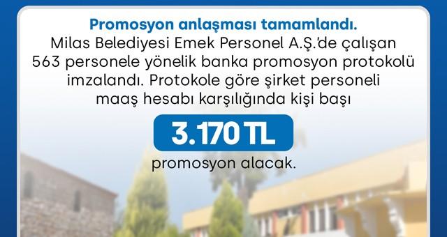 Belediye işçilerine 3 bin 170 lira promosyon!..