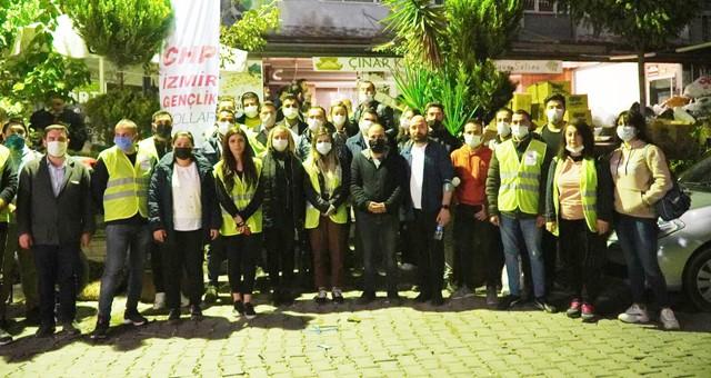 Muğla CHP'li gençler, İzmir için tek yürek