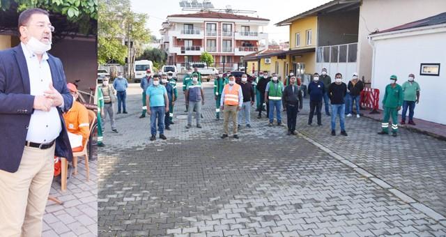 Başkan Tokat işçilerle bir araya geldi