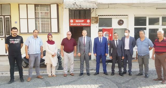 MHP'nin yeni yönetimine kutlama ziyareti