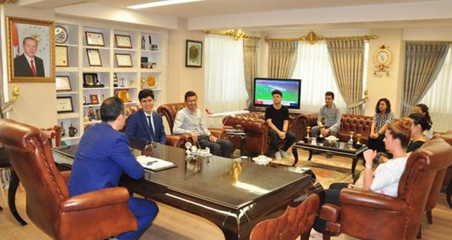 KYK Çalışanlarından Kaymakam Arslan'a ziyaret