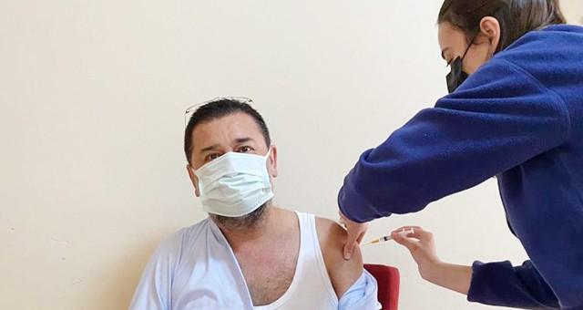 Başkan Tokat, koronavirüs aşısı oldu