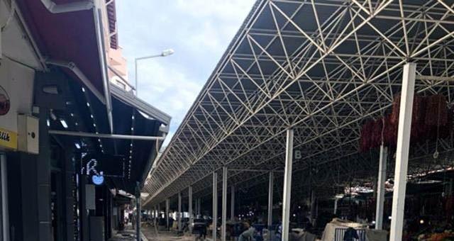 Pazaryeri uzay çatı kafes sistemini örten trapez sacların değiştirilmesi işi yaptırılacak