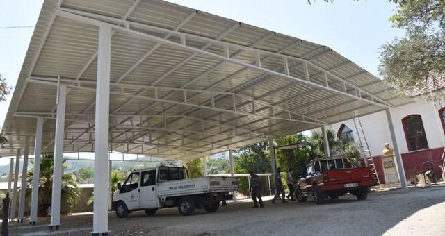 Karacahisar'da çok amaçlı sosyal alan tamamlanıyor