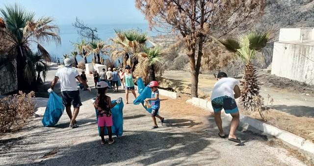 Belediye ve gönüllülerden çevre temizliği