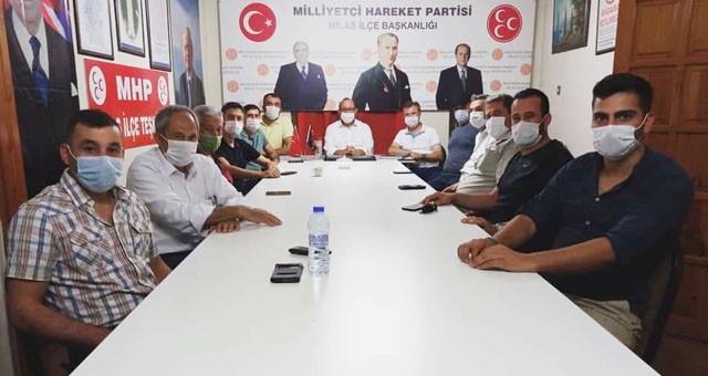 MHP Milas İlçe'de görev dağılımı yapıldı