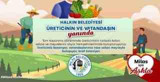 Milas Belediyesi üreticinin ve vatandaşın yanında