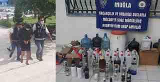 Kaçak alkol operasyonunda 13 tutuklama