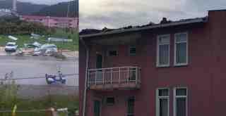 Kemerköy Lojmanları'nı 'Hortum' Vurdu