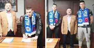 Milas Belediyespor'un yeni transferleri basına tanıtıldı