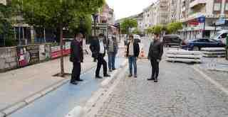 Milas'ta bisiklet yolları yenileniyor