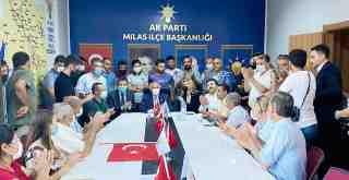 AKP'ye Milas'ta coşkulu katılım