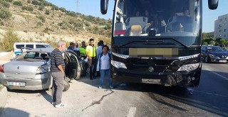 TOKİ kavşağında kaza : 2 yaralı