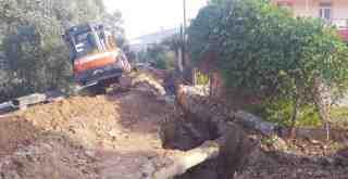 Milas Beçin'de ana şebeke hattı yenileniyor